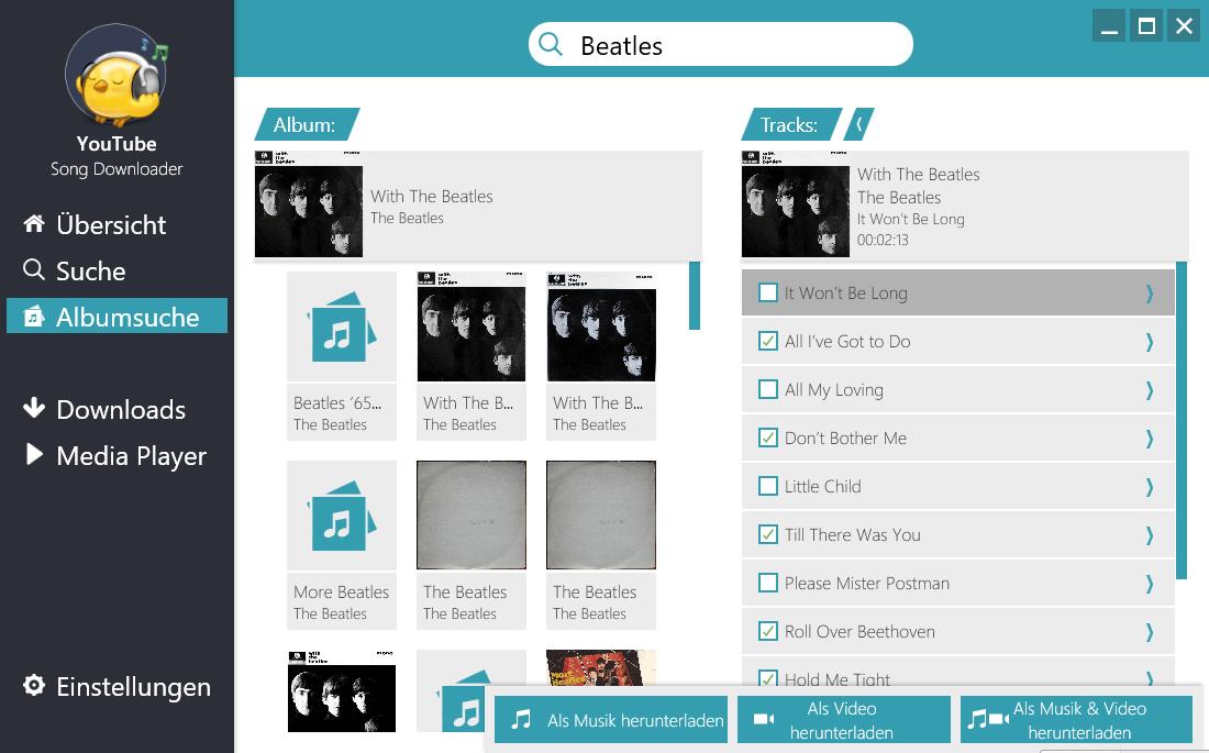 Ganze Alben downloaden - Einzelne Songs auswählen und herunterladen
