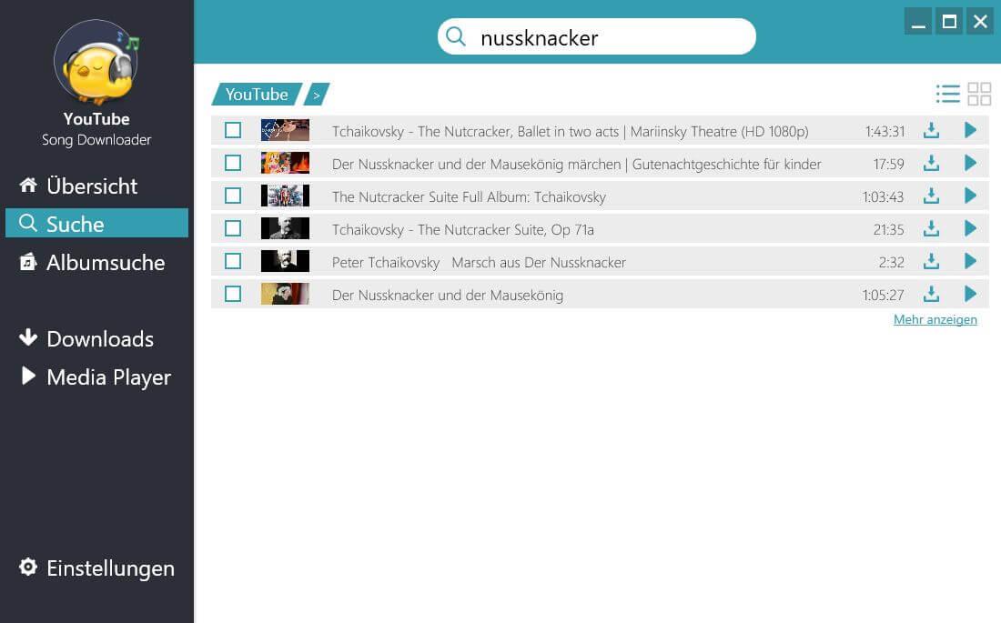 Musik von Youtube auf CD brennen - Einzelne Lieder suchen