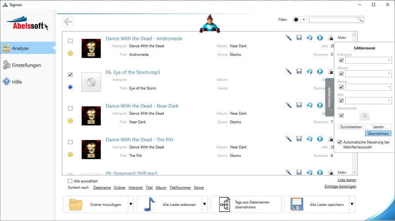 ID3 Tags aus MP3s entfernen - MP3 abspeichern