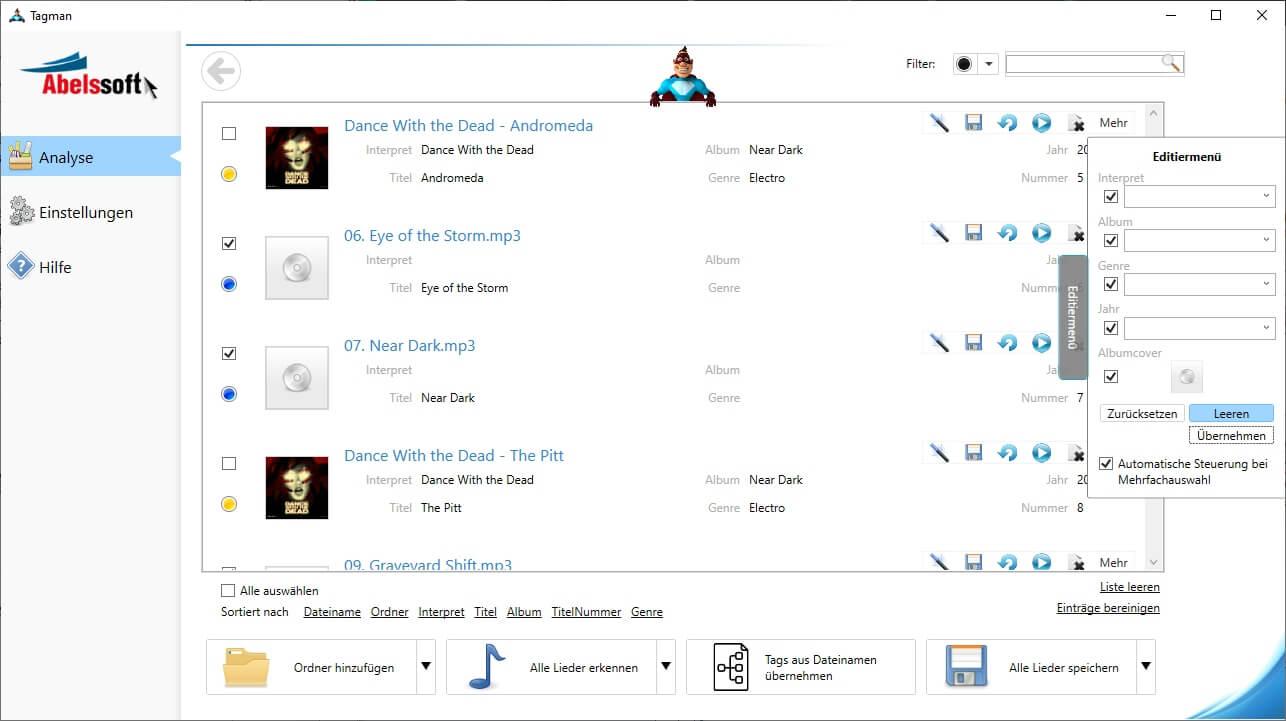 ID3 Tags aus MP3s entfernen - Tags aller MP3s löschen