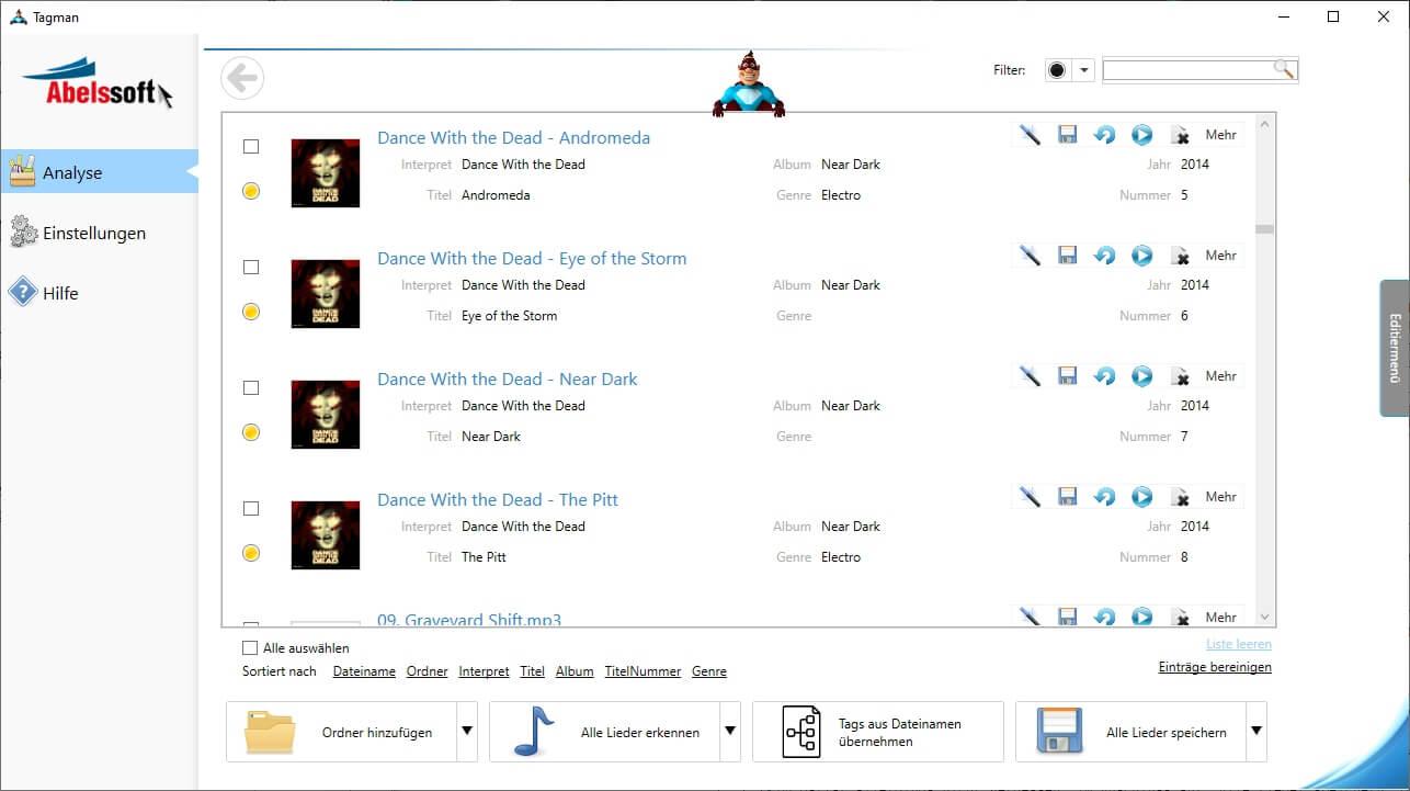 ID3 Tags aus MP3s entfernen - Bulkedit