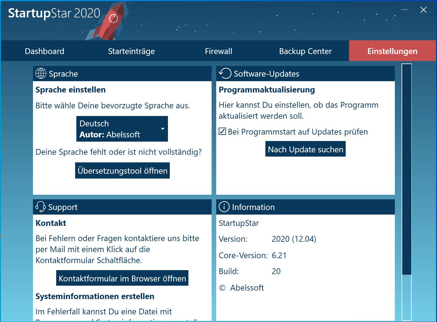 Windows 10 Autostart Programme deaktivieren - StartupStar Einstellungen