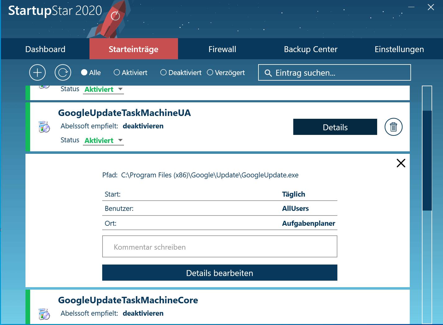 Windows 10 Autostart Programme deaktivieren - Detaileinstellungen für Programme