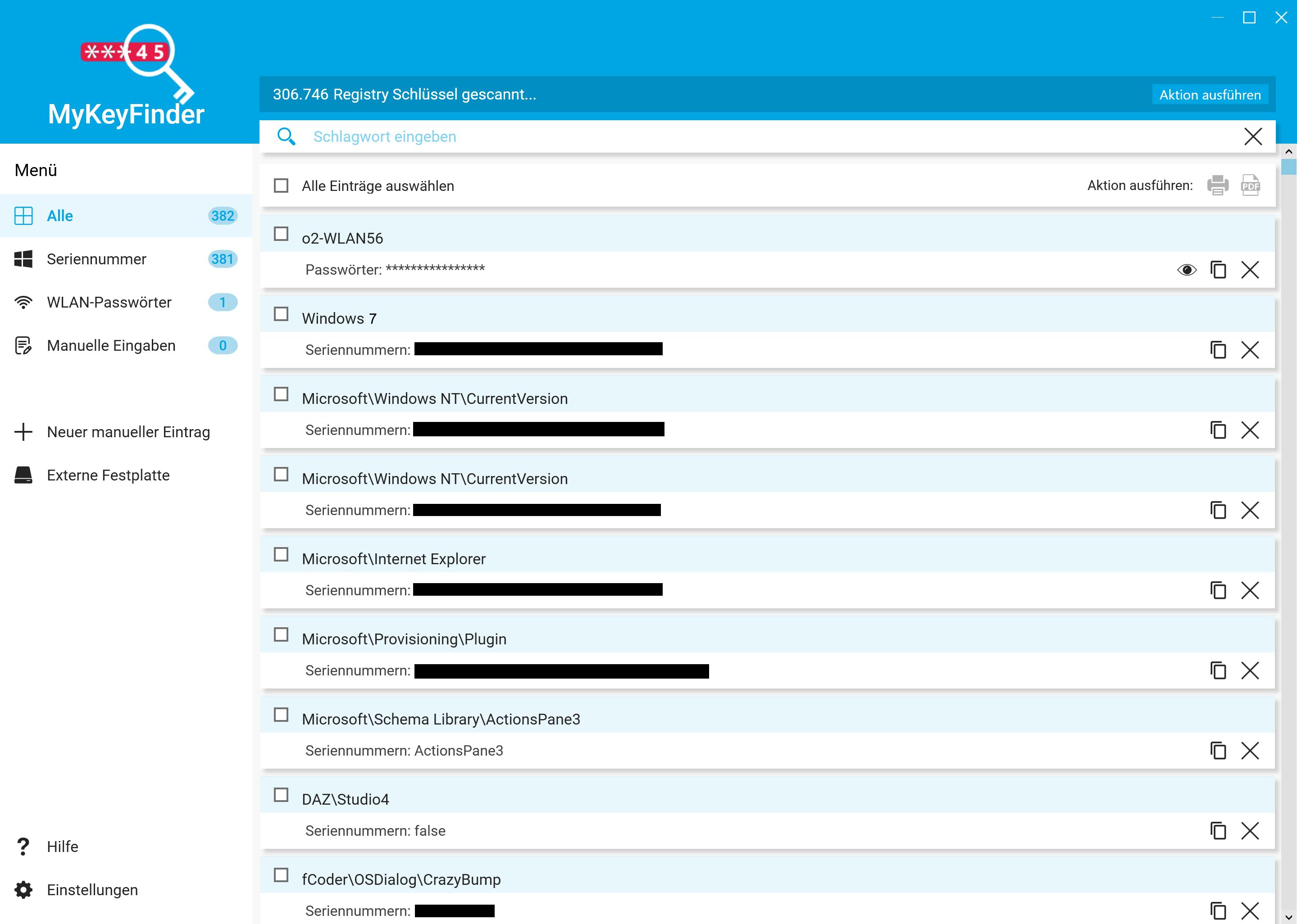 Windows 7 Key auslesen und herausfinden - MyKeyFinder