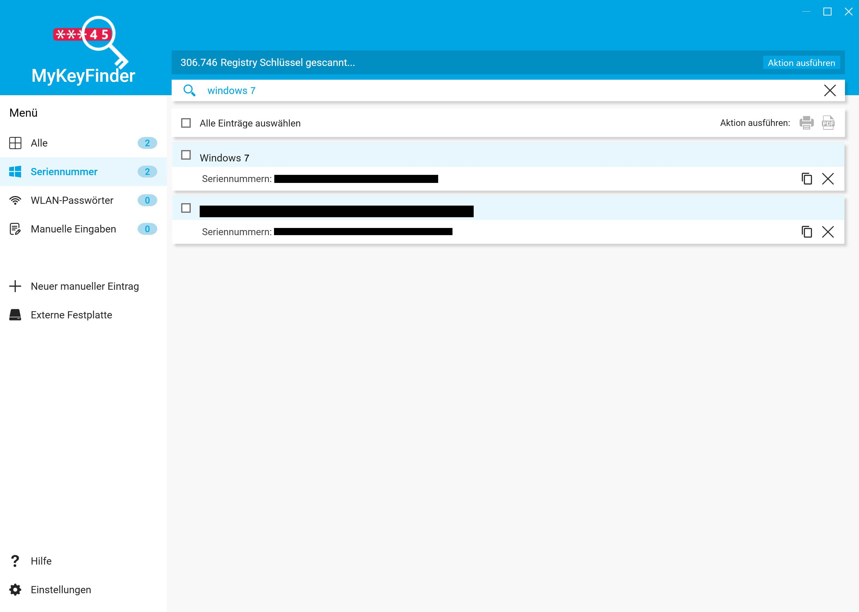 Windows 7 Key auslesen und herausfinden - Nach Windows 7 Schlüsseln suchen