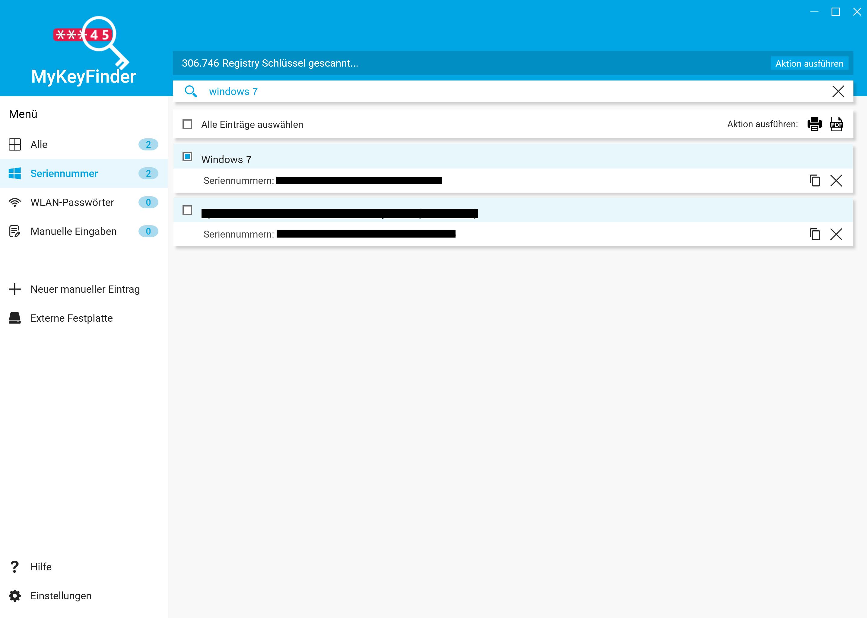Windows 7 Key auslesen und herausfinden - Schlüssel auswählen