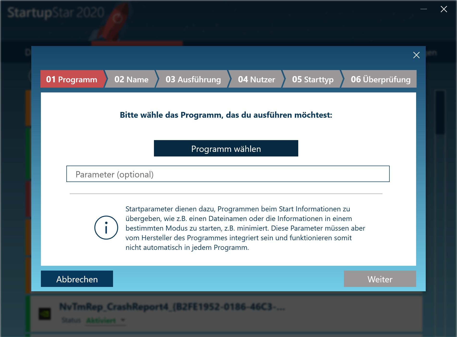 Programme automatisch starten - Neue Programme hinzufügen