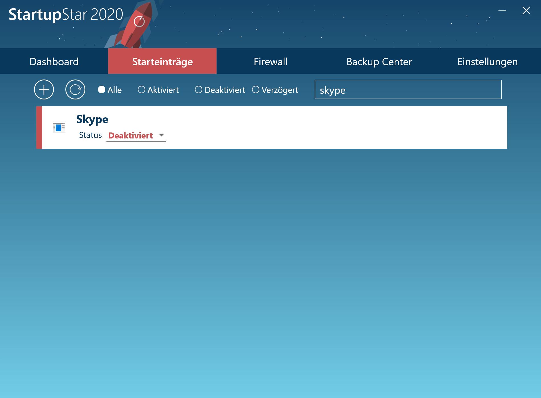 Skype Autostart unter Windows deaktivieren - Skype deaktiviert
