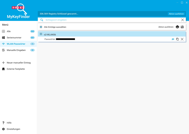 WLAN Passwort herausfinden und auslesen - Passwort im Klartext anzeigen