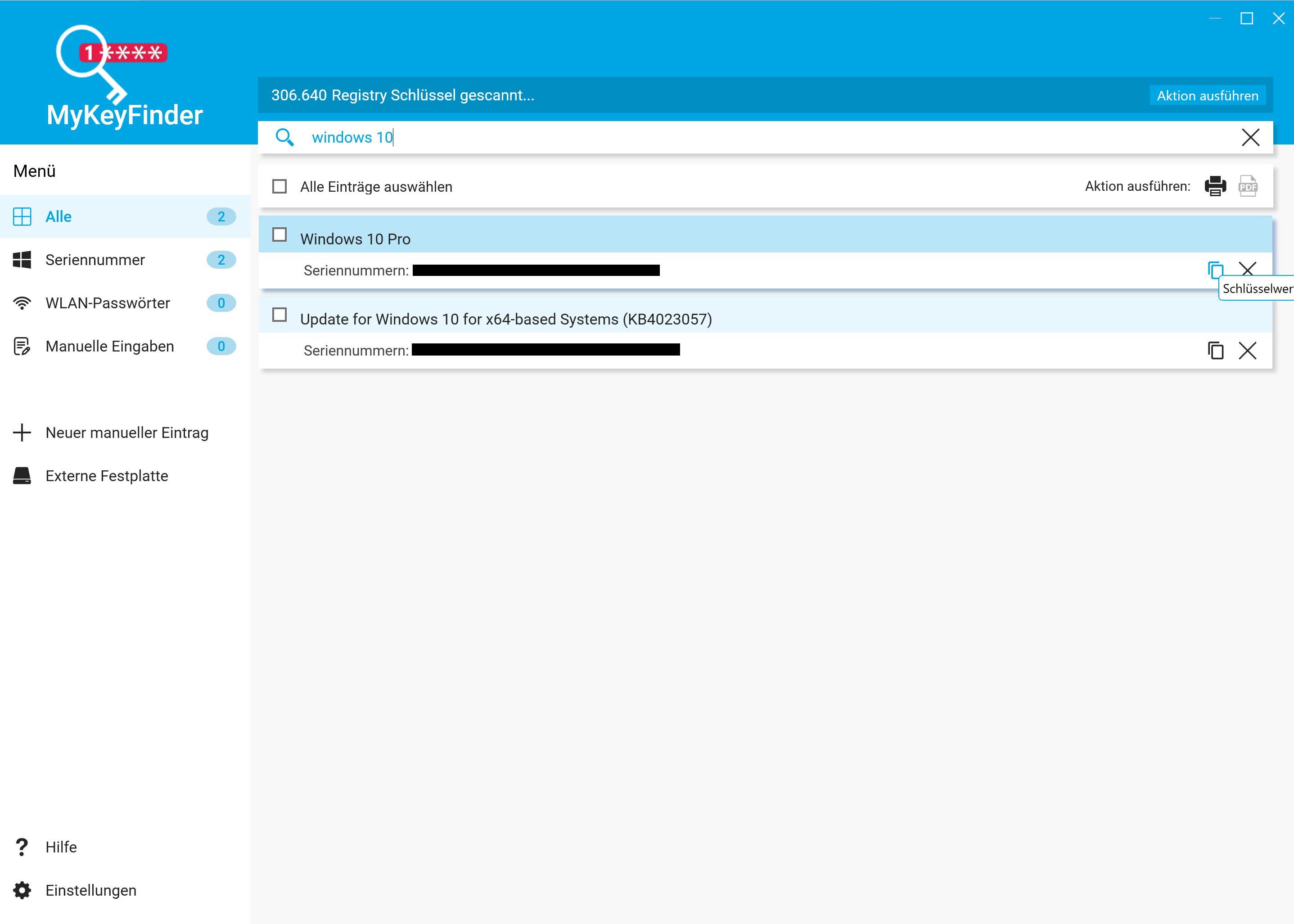 Windows 10 Key herausfinden und auslesen - Lizenzschlüssel kopieren