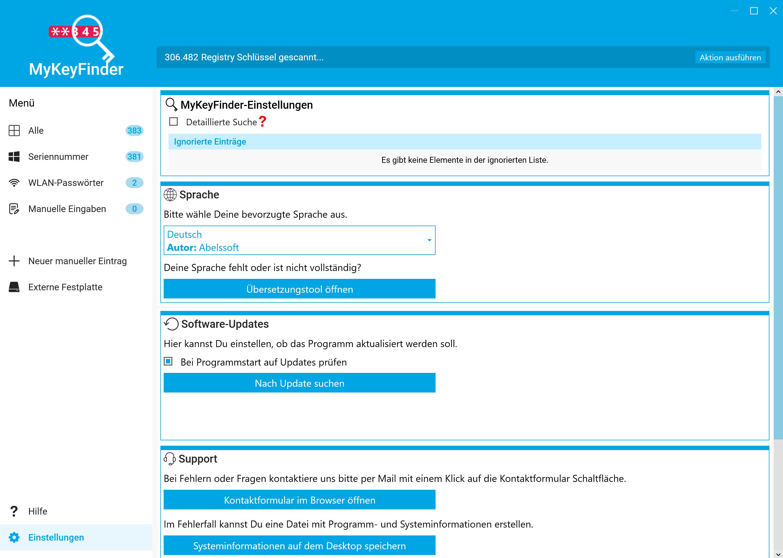 Office Product Key herausfinden und auslesen - Detaileinstellungen