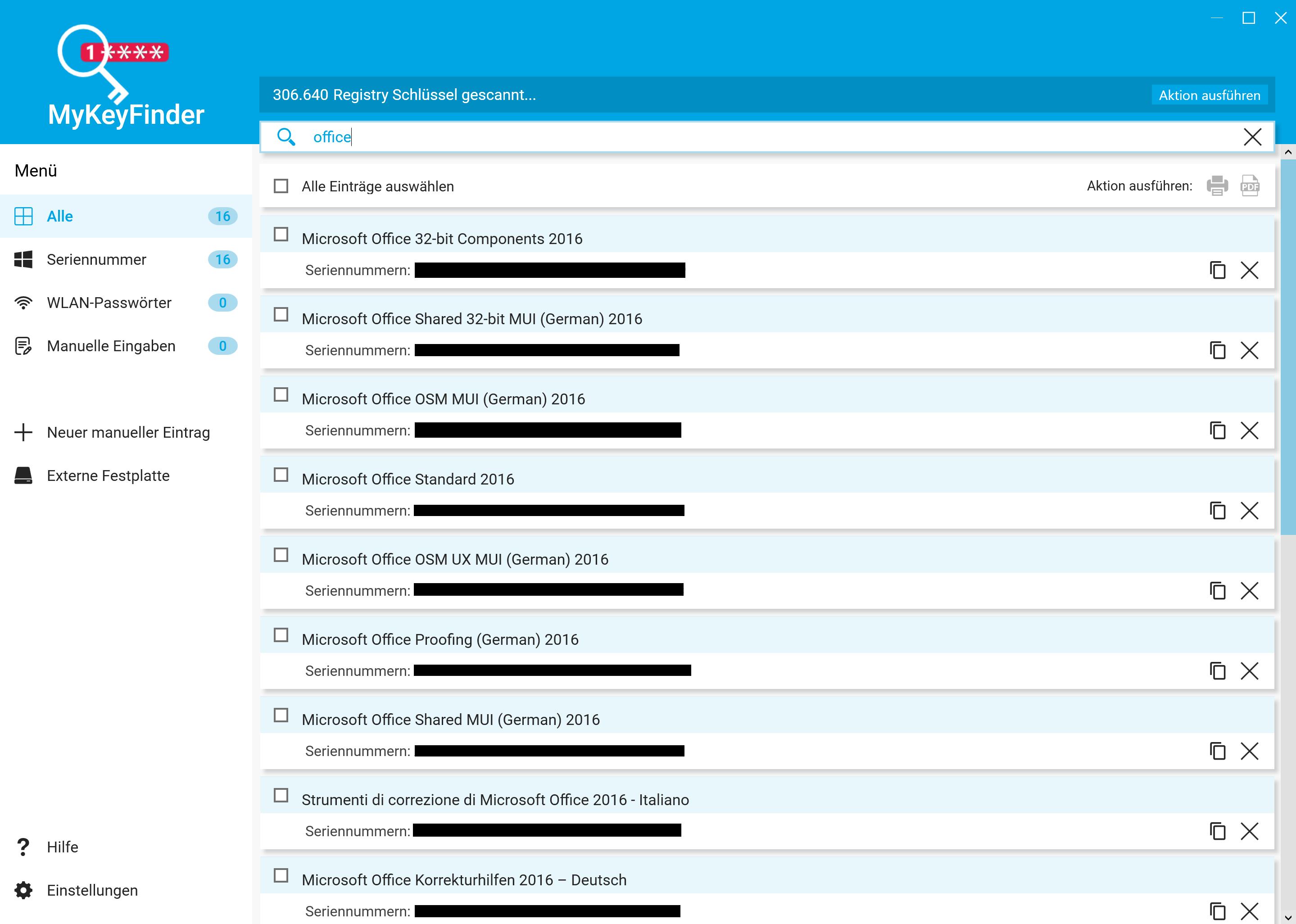 Office Product Key herausfinden und auslesen - Alle Keys anzeigen