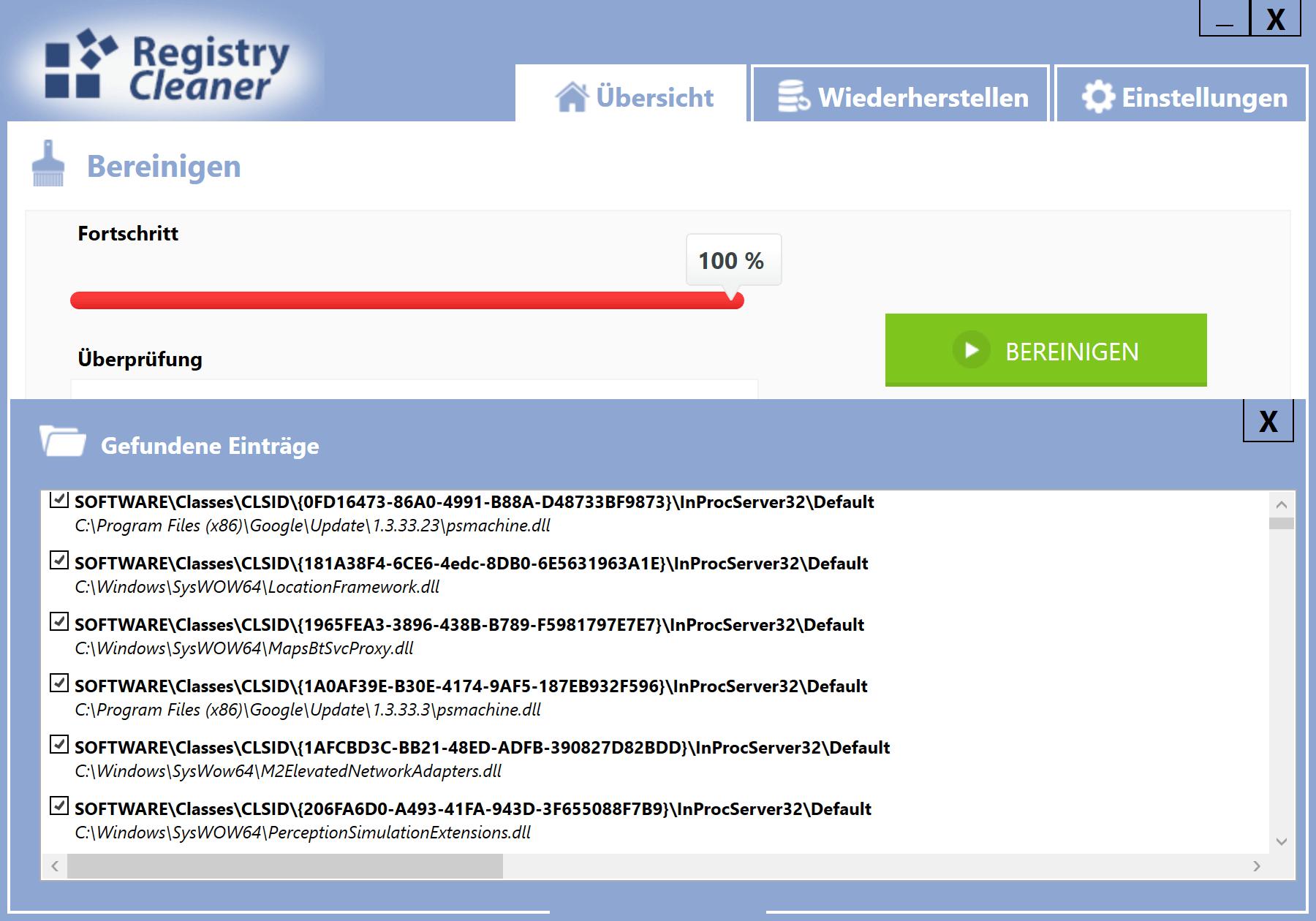 Windows 10 Registry schneller machen - Liste mit zu bereinigenden Einträgen