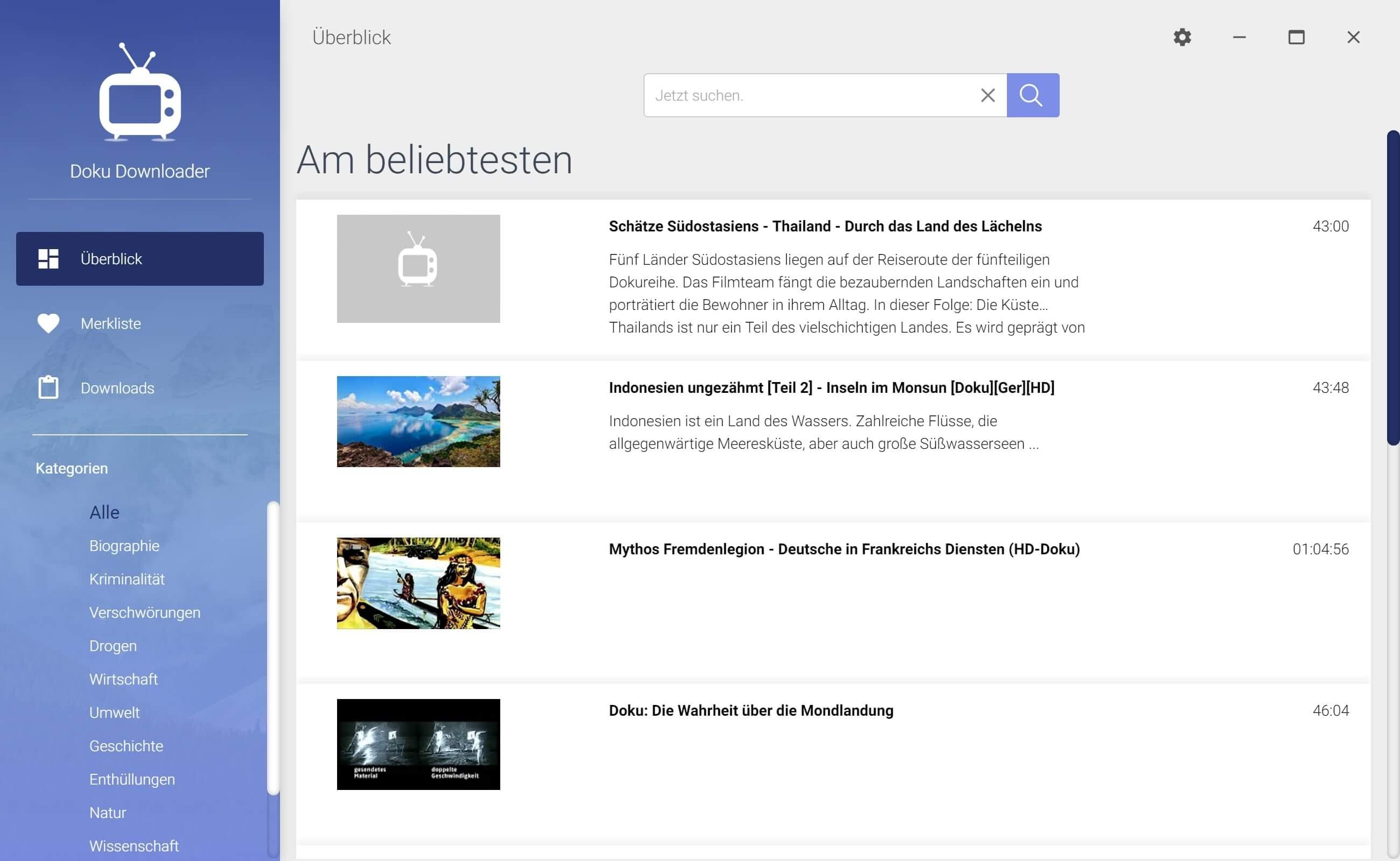 ARD Dokumentation aus Mediathek herunterladen - Start