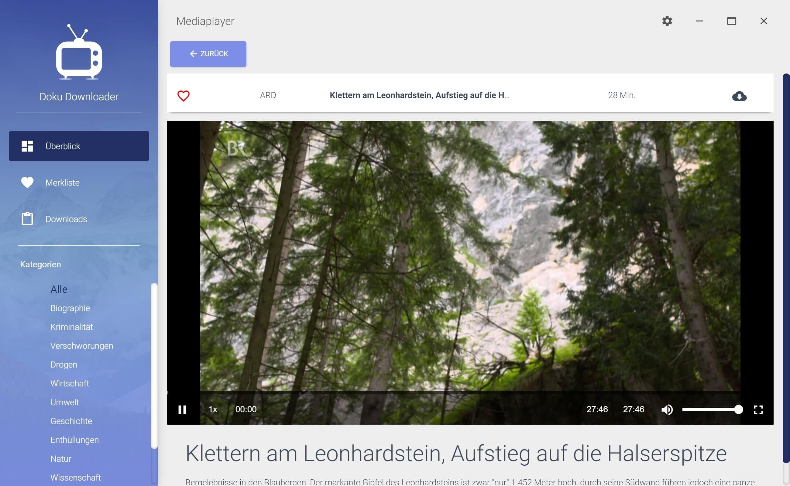 ARD Dokumentation aus Mediathek herunterladen - Anschauen