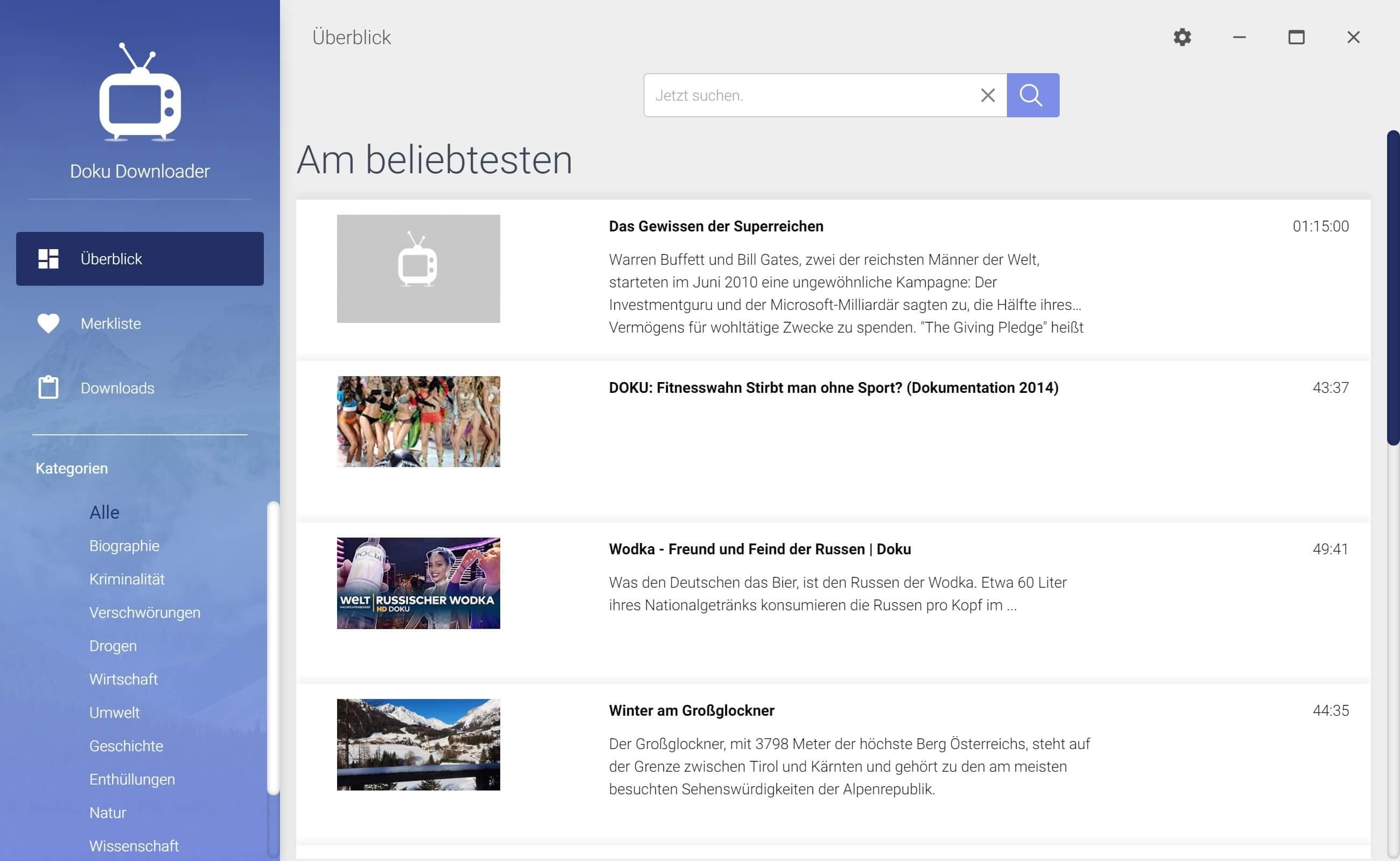WDR Dokumentation aus Mediathek herunterladen - Start