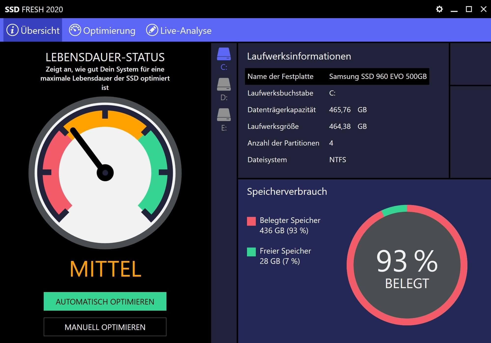 Windows 7 SSD optimieren - Start