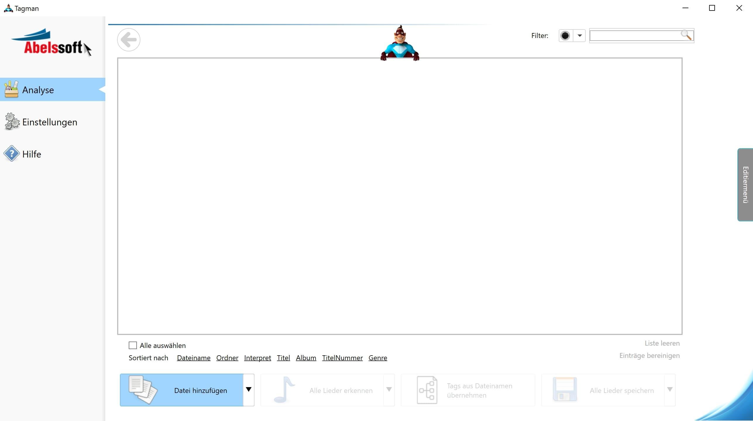 MP3 Interpret und Titel bearbeiten - Ordner wechseln