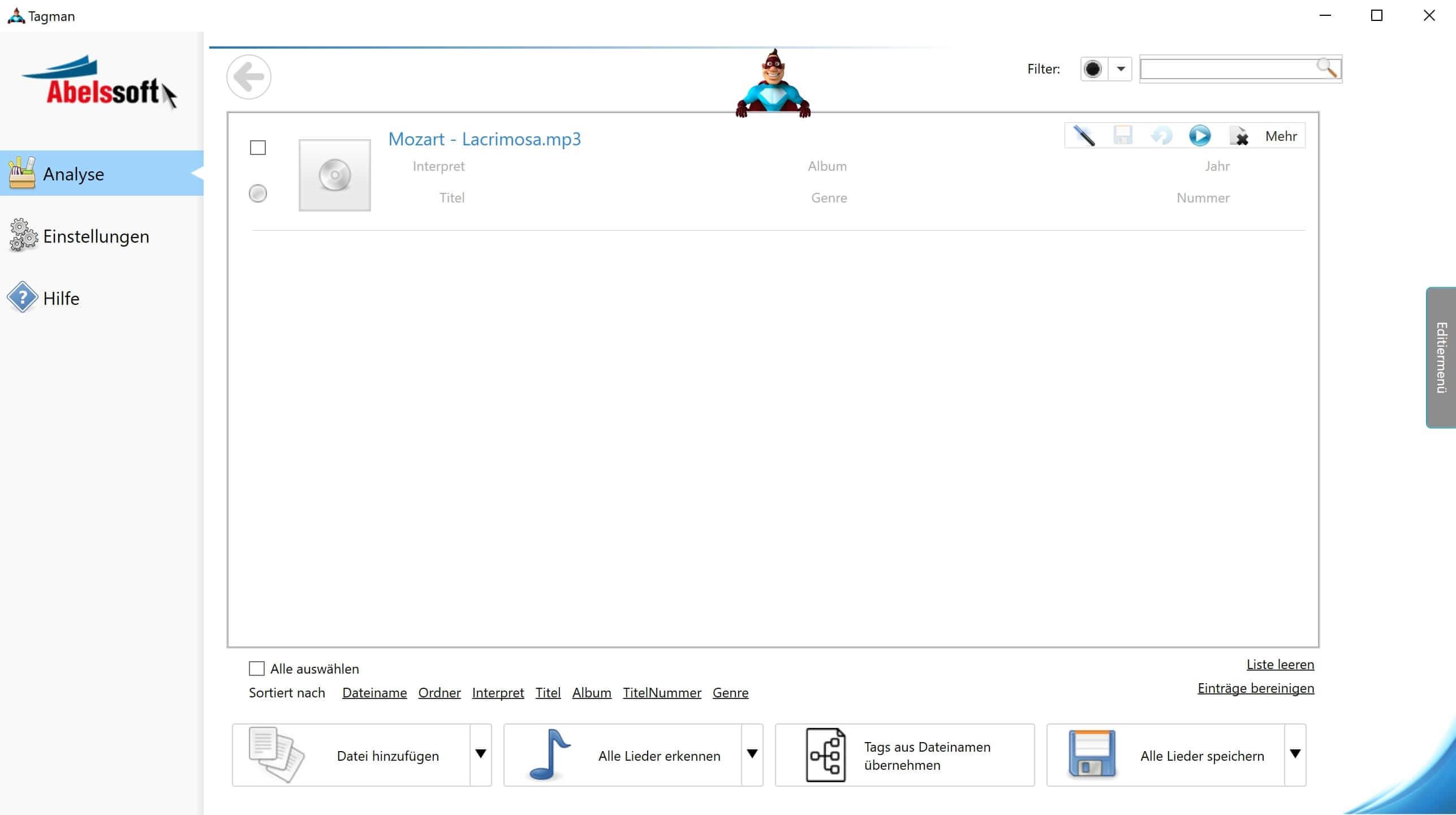 MP3 Interpret und Titel bearbeiten - ID3 Tags bearbeiten