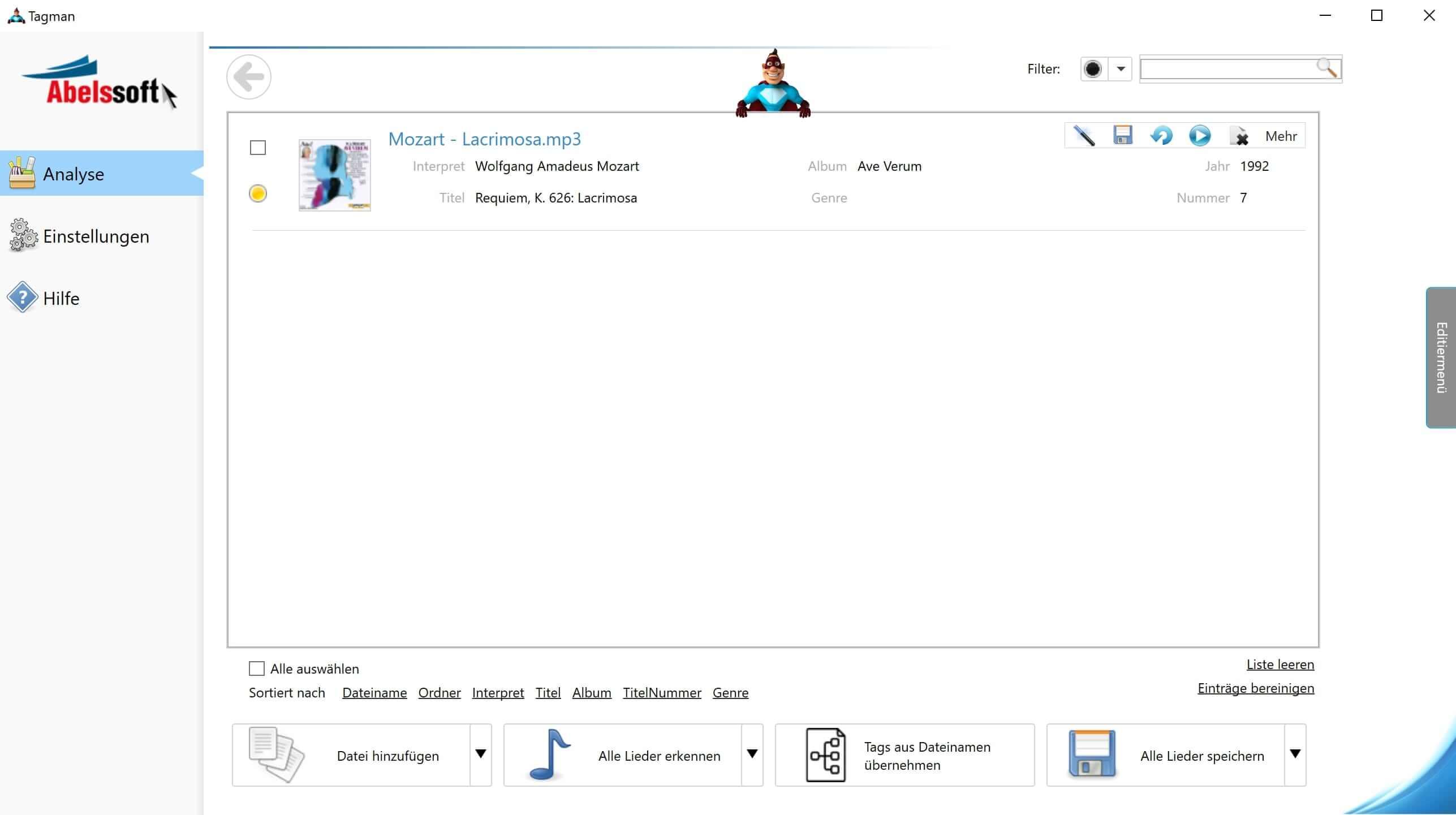 MP3 Interpret und Titel bearbeiten - Tags automatisch hinzufügen