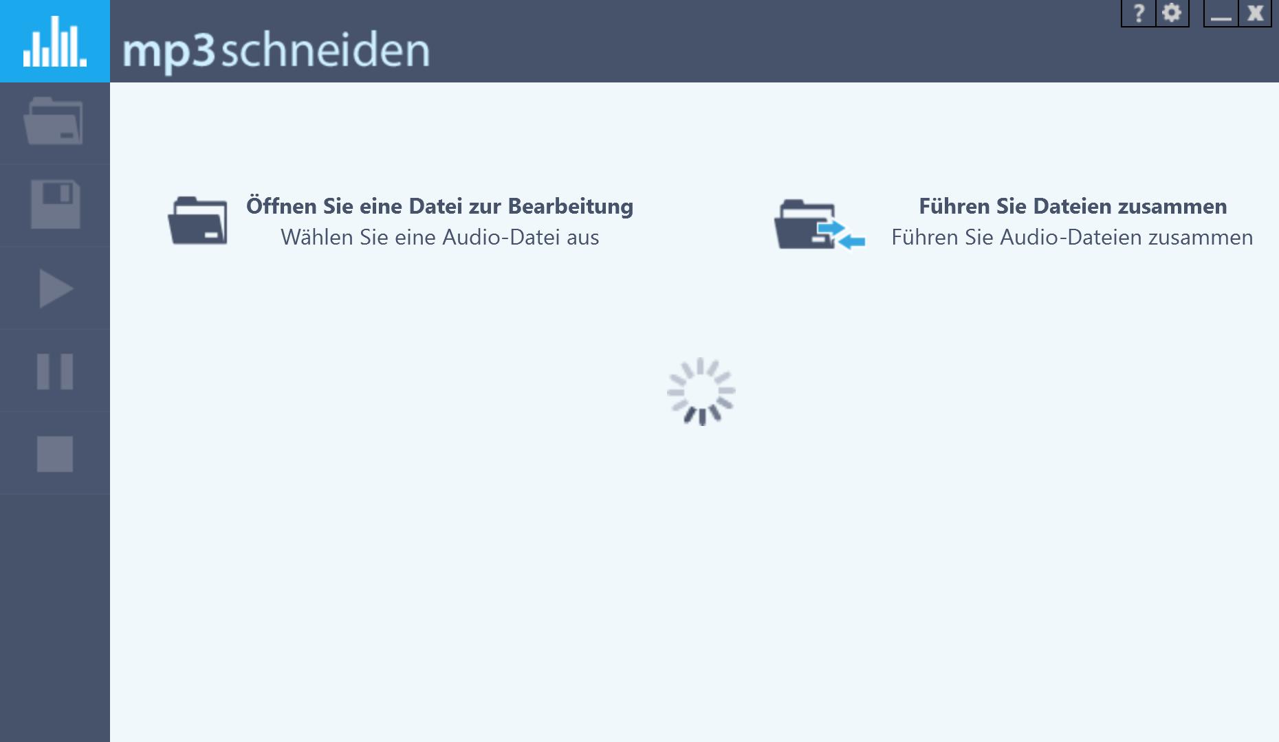 MP3 Lautstärke anpassen - Datei laden