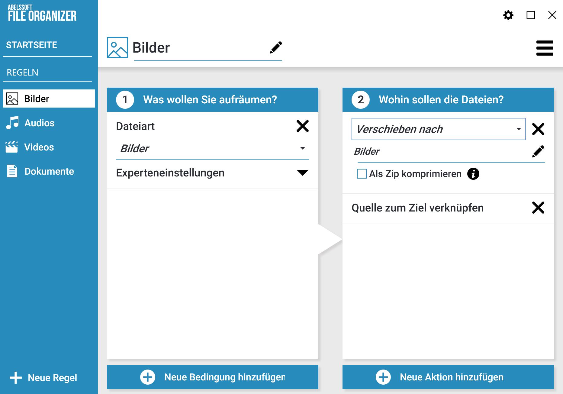 Desktop automatisch aufräumen - Bilder-Ordner