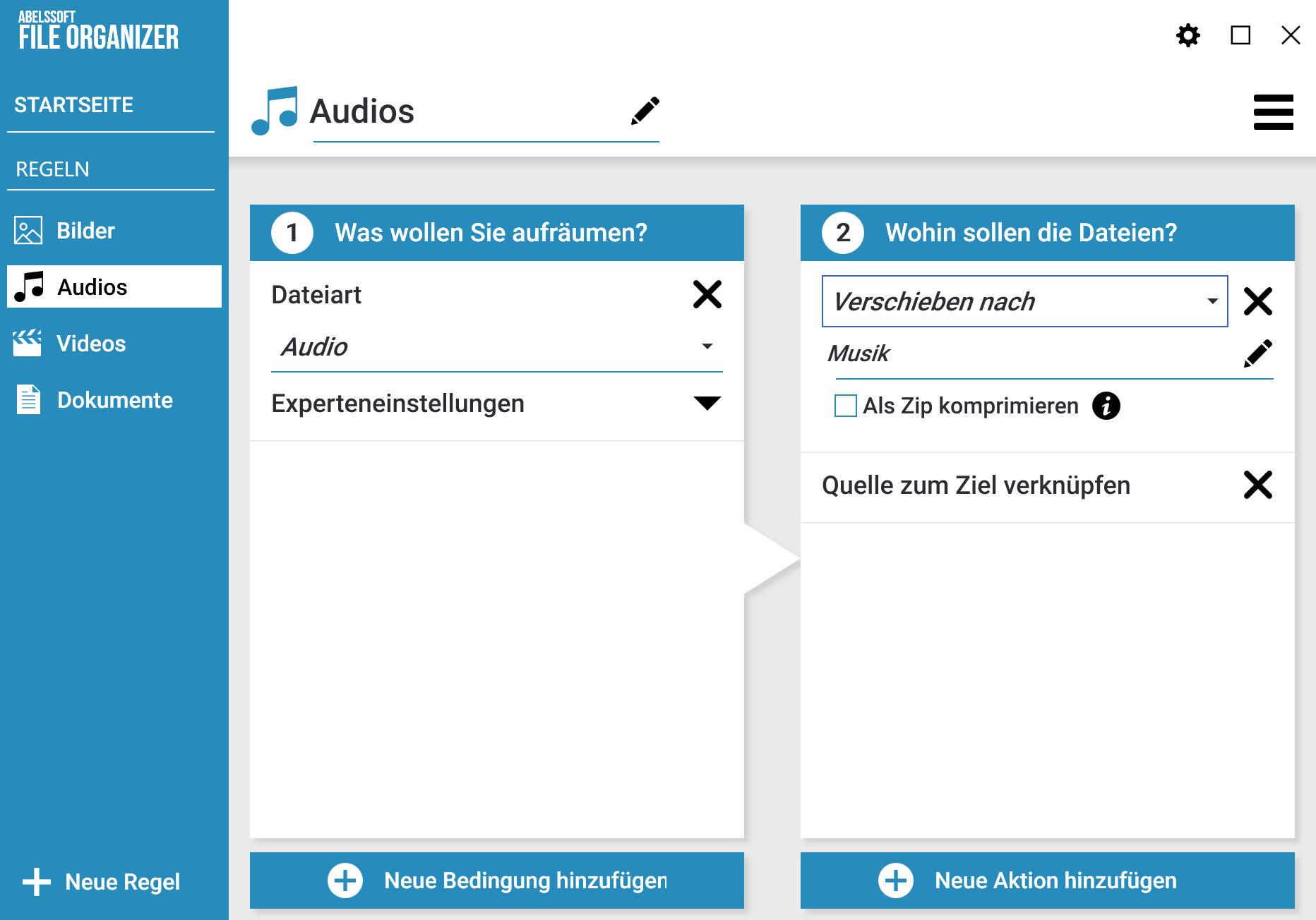 Desktop automatisch aufräumen - Musik-Ordner