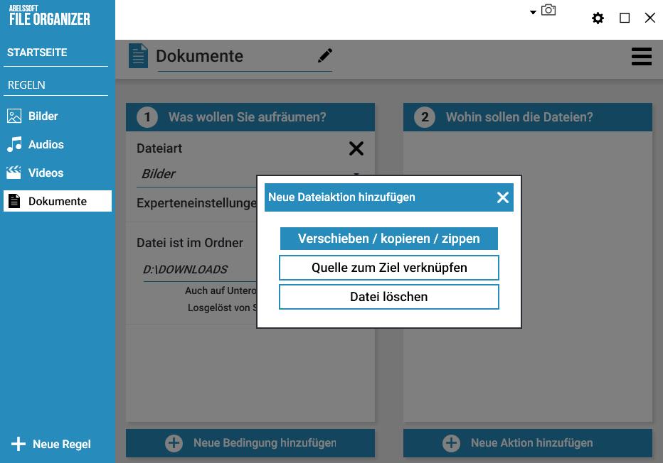 Ordner und Verzeichnisse automatisch aufräumen - Sortierung