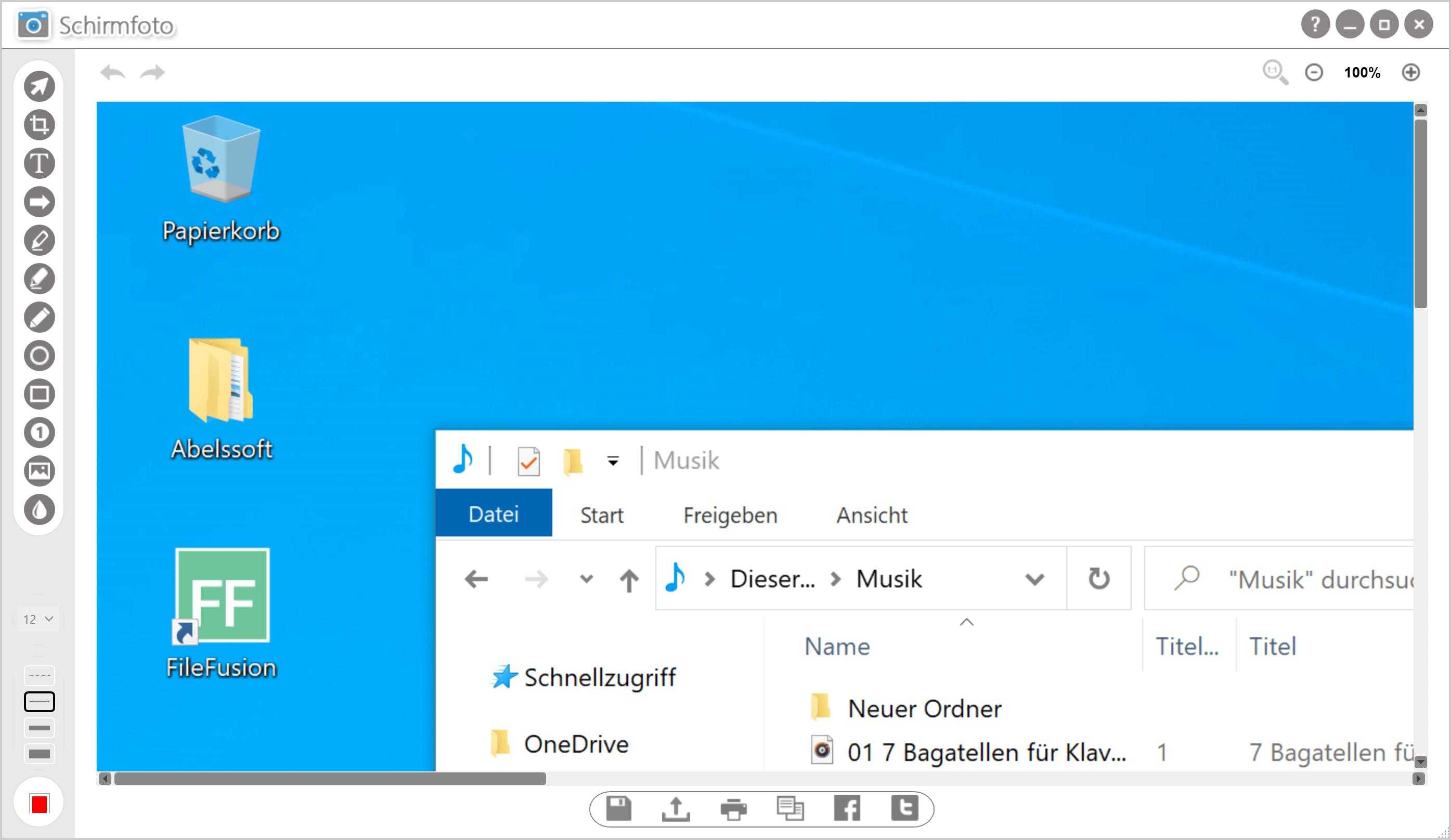 Screenshot Windows Ausschnitt machen - Drucken Taste