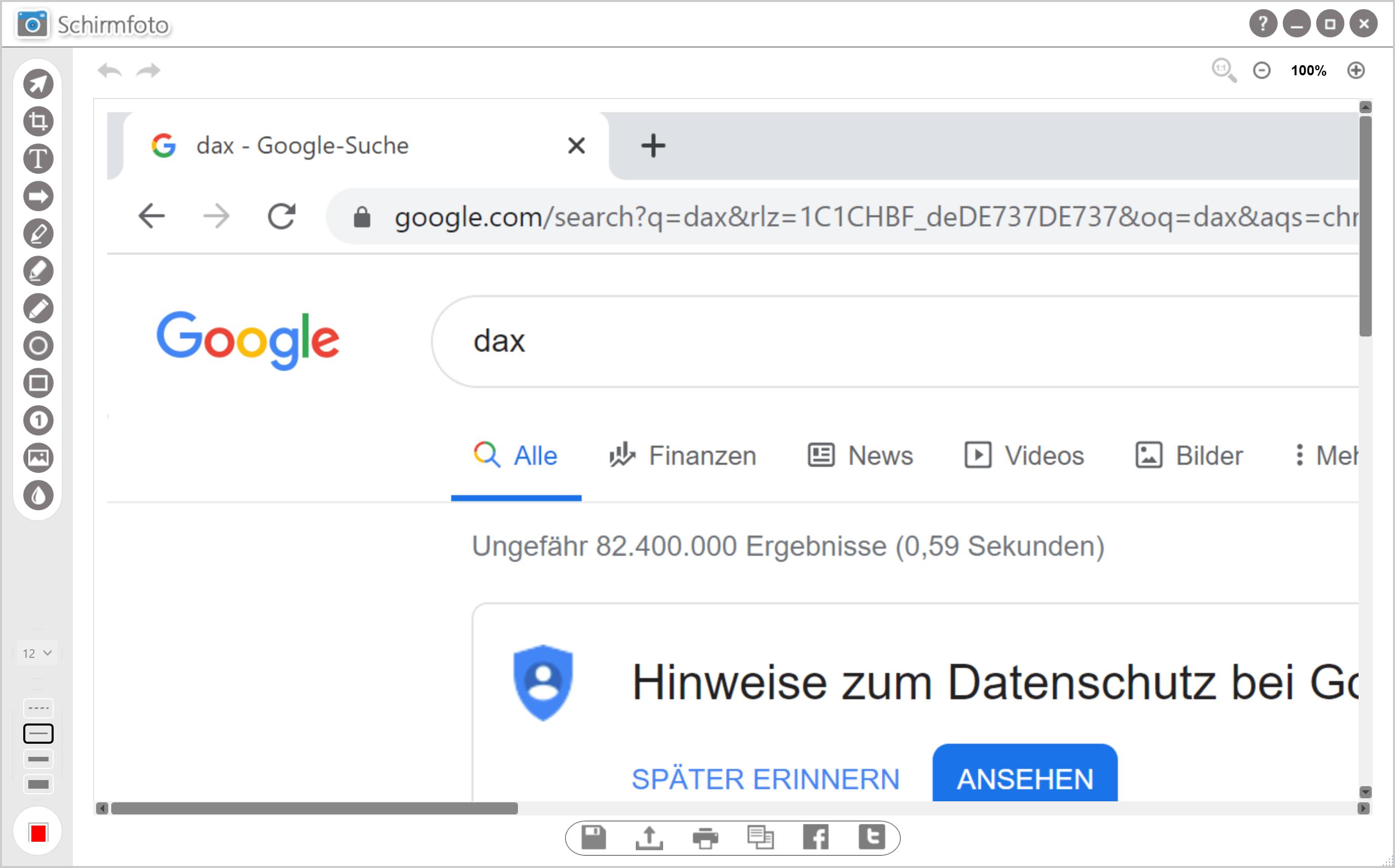 Screenshot ausdrucken - Screenshot erstellen