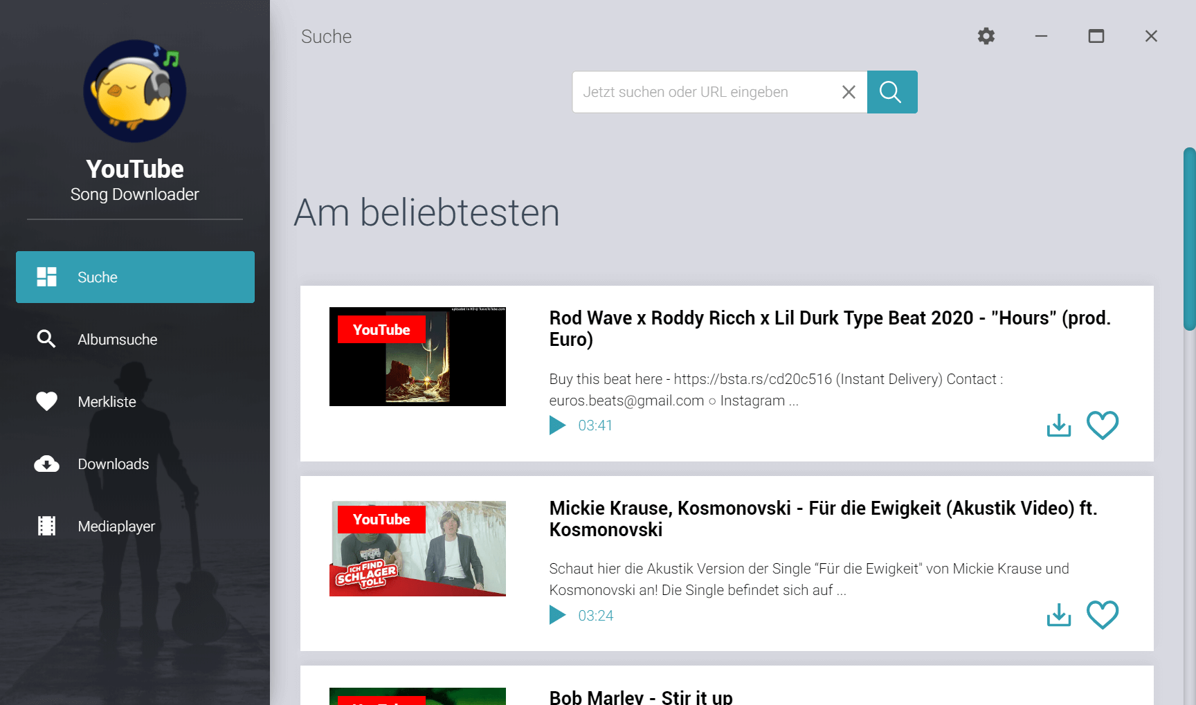 Youtube OGG Download - Programm starten